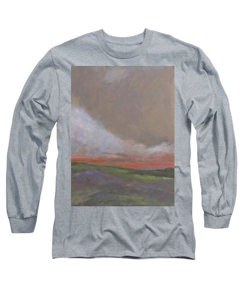 Abstract Landscape - Scarlet Light Long Sleeve T-Shirt by Kathleen Grace