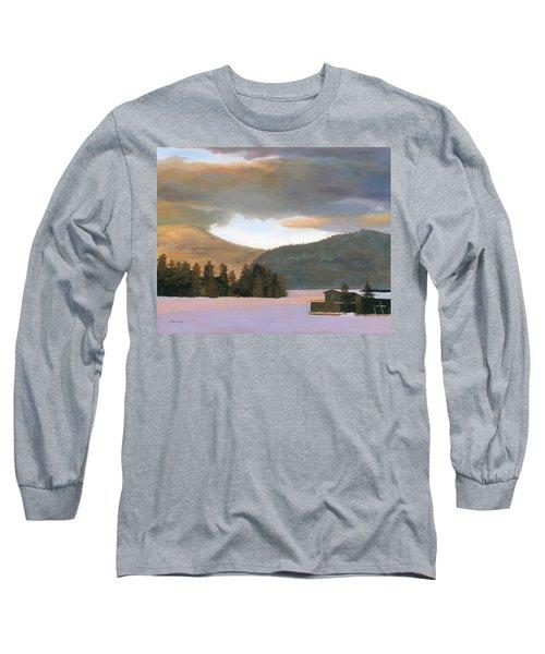 Adirondack Morning Long Sleeve T-Shirt by Lynne Reichhart