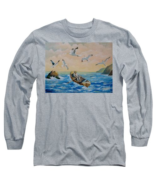 After A Fishing Day Long Sleeve T-Shirt