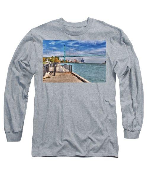 Ambassador Bridge Detroit Mi Long Sleeve T-Shirt