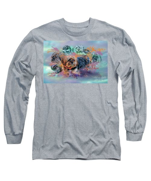 Long Sleeve T-Shirt featuring the digital art Another Birthday 112 Years by Kathy Tarochione