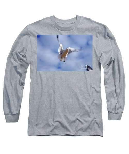 Applying Brakes In Flight Long Sleeve T-Shirt by Clayton Bruster