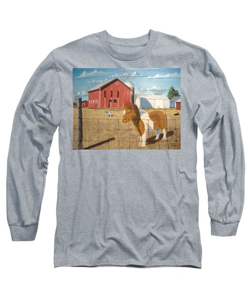 Long Sleeve T-Shirt featuring the painting At Home by Norm Starks