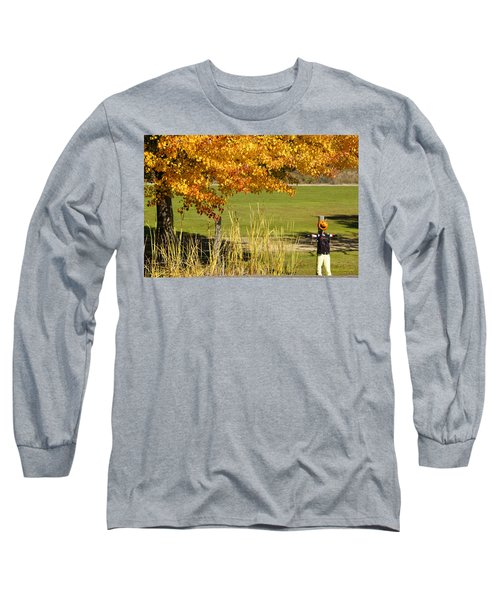 Autumn At The Schoolground Long Sleeve T-Shirt by Mick Anderson