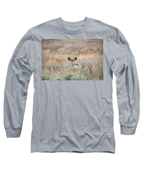 Long Sleeve T-Shirt featuring the photograph Babe In Hiding by Lynn Bauer