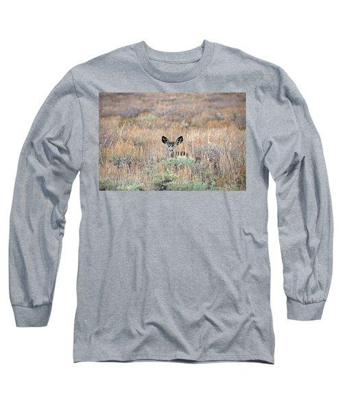 Babe In Hiding Long Sleeve T-Shirt by Lynn Bauer