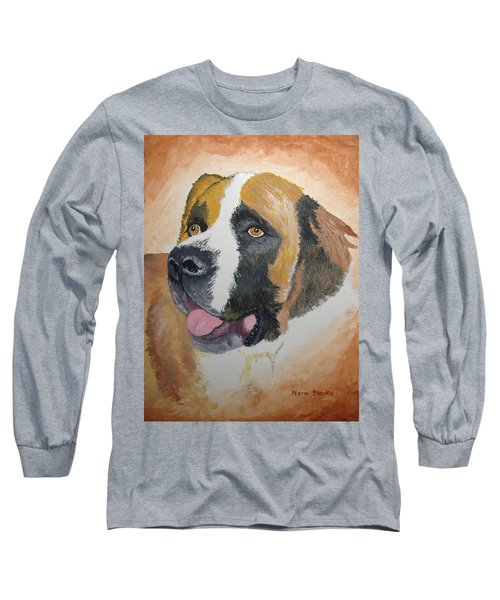 Long Sleeve T-Shirt featuring the painting Baxter by Norm Starks