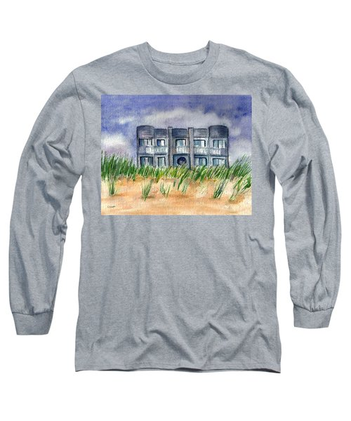 Long Sleeve T-Shirt featuring the painting Beach House by Clara Sue Beym