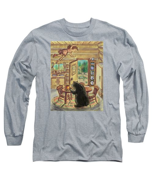 Bear In The Kitchen - Dream Series 7 Long Sleeve T-Shirt by Dawn Senior-Trask