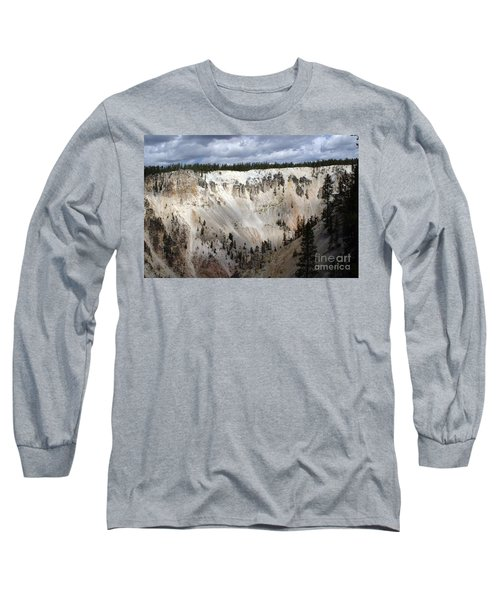Beautiful Lighting On The Grand Canyon In Yellowstone Long Sleeve T-Shirt by Living Color Photography Lorraine Lynch
