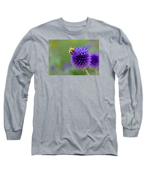 Bee On Garden Flower Long Sleeve T-Shirt