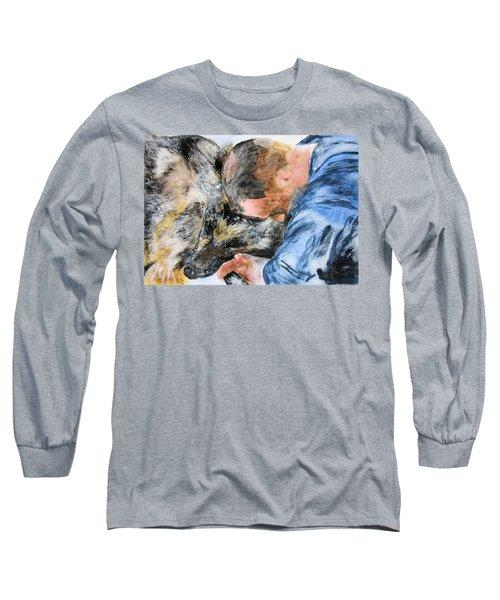 Best Friends-watercolor Study Long Sleeve T-Shirt