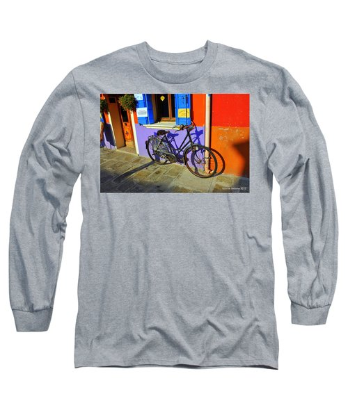 Bicycle Stance Burano Italy Long Sleeve T-Shirt