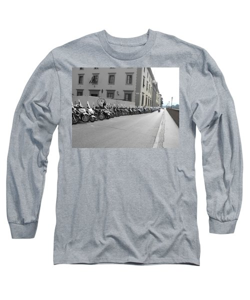 Long Sleeve T-Shirt featuring the photograph Bikes by Laurel Best