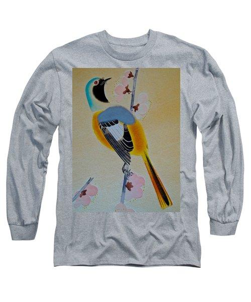 Bird Print Long Sleeve T-Shirt