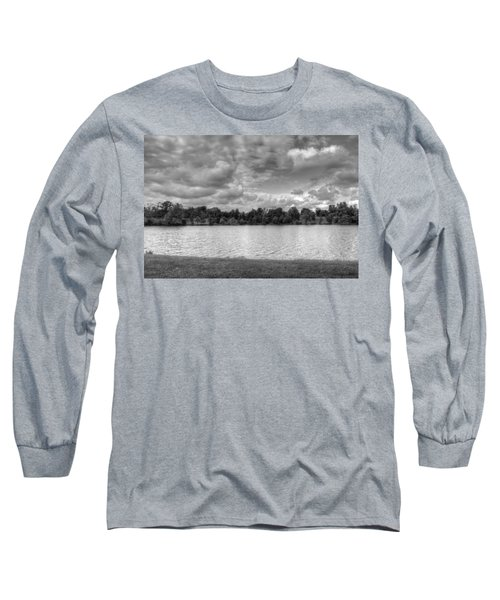 Long Sleeve T-Shirt featuring the photograph Black And White Autumn Day by Michael Frank Jr