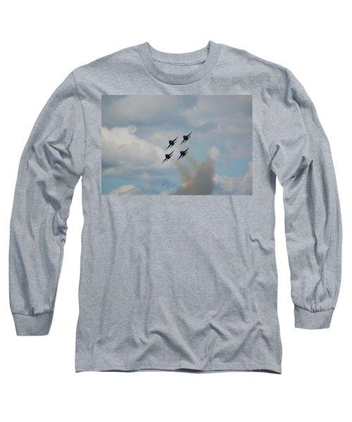Blue Angels Roaring By Long Sleeve T-Shirt
