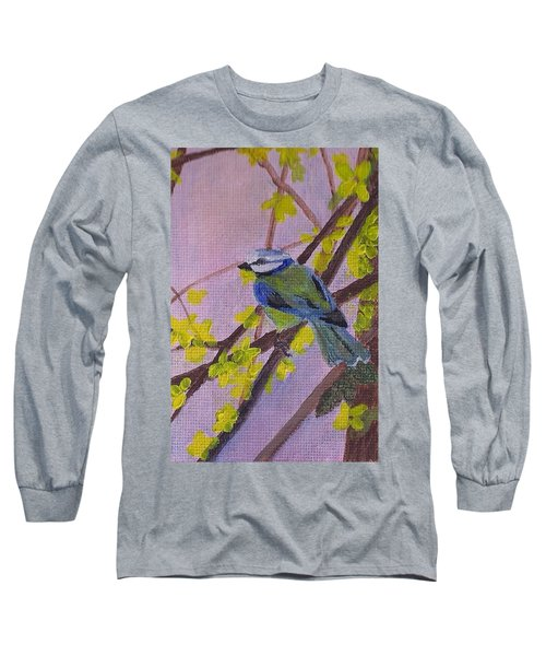 Blue Bird Long Sleeve T-Shirt by Christy Saunders Church
