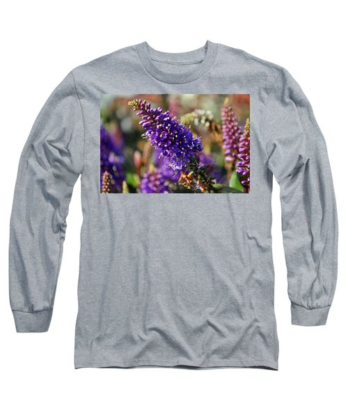 Long Sleeve T-Shirt featuring the photograph Blue Brush Bloom by Tikvah's Hope