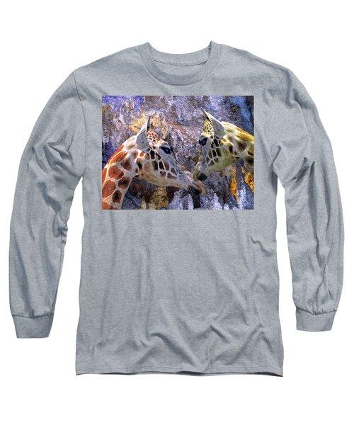 Blue Cave Giraffes Long Sleeve T-Shirt