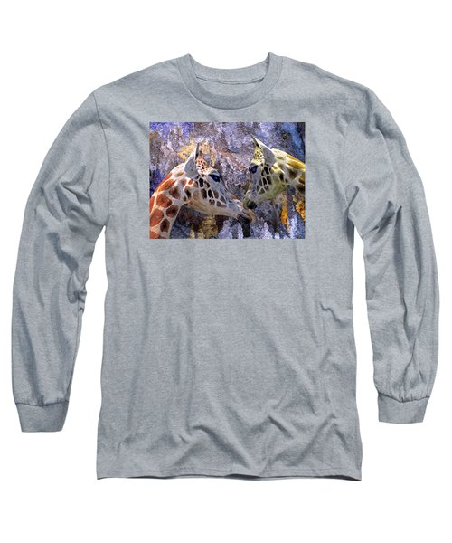 Blue Cave Giraffes Long Sleeve T-Shirt