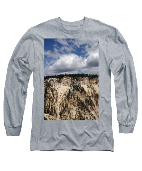 Blue Skies And Grand Canyon In Yellowstone Long Sleeve T-Shirt by Living Color Photography Lorraine Lynch