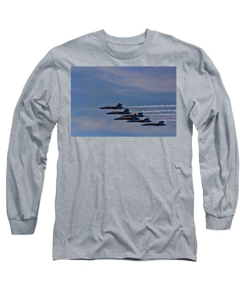 Long Sleeve T-Shirt featuring the photograph Blues by David Gleeson