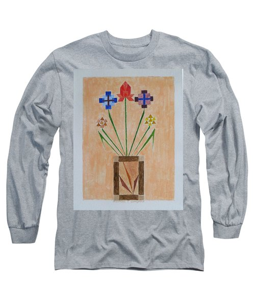 Long Sleeve T-Shirt featuring the painting Bouquet by Sonali Gangane