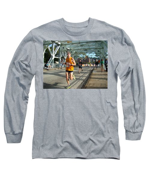 Long Sleeve T-Shirt featuring the photograph Bridge Runner by Alice Gipson