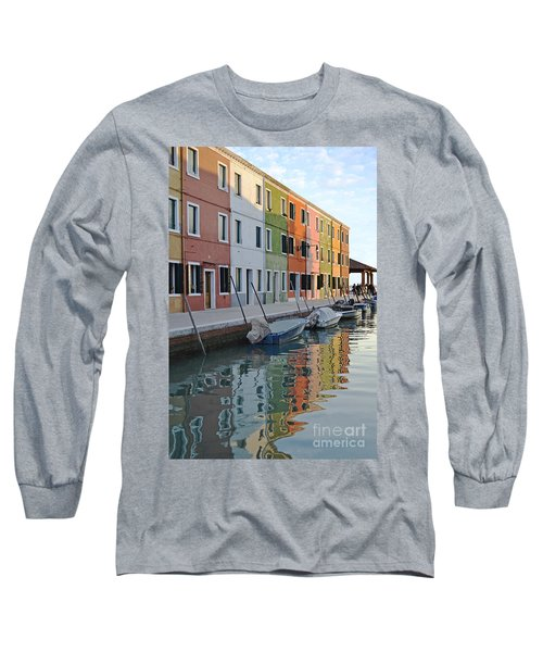 Long Sleeve T-Shirt featuring the photograph Burano Canal by Rebecca Margraf