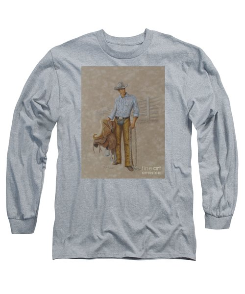 Busted Bronc Rider Long Sleeve T-Shirt