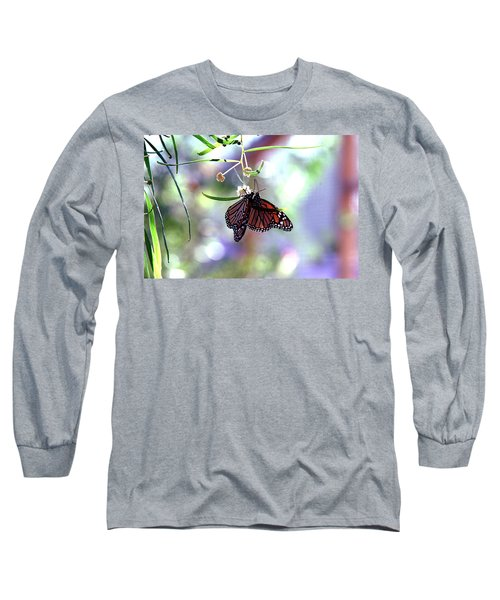 Long Sleeve T-Shirt featuring the photograph Butterfly Meet-up by Tam Ryan