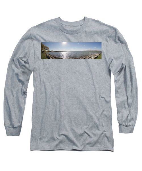 Long Sleeve T-Shirt featuring the photograph Canandaigua Lake Panorama by William Norton