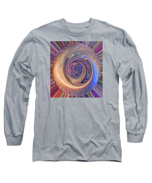 Candy Stripe Planet Long Sleeve T-Shirt by Richard James Digance