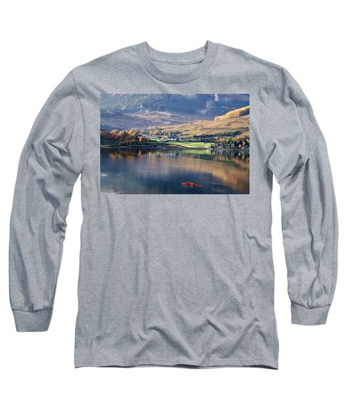Long Sleeve T-Shirt featuring the photograph Canoeing On Loch Goil by Lynn Bolt
