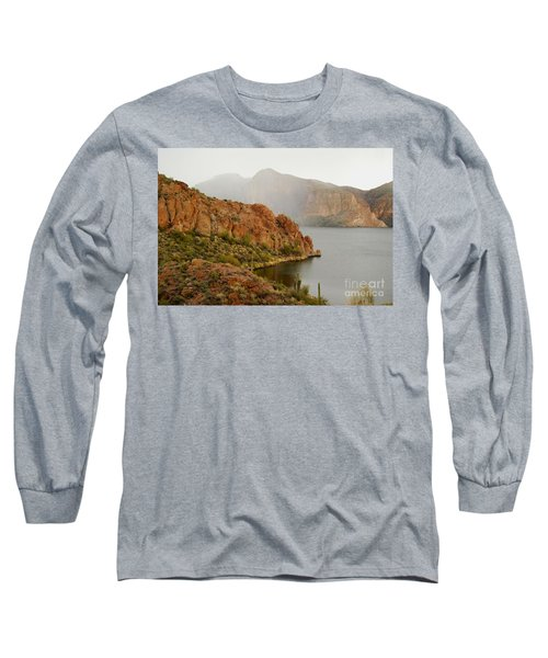Long Sleeve T-Shirt featuring the photograph Canyon Lake by Tam Ryan