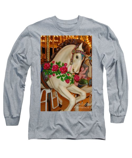Carousel Horse With Roses Long Sleeve T-Shirt