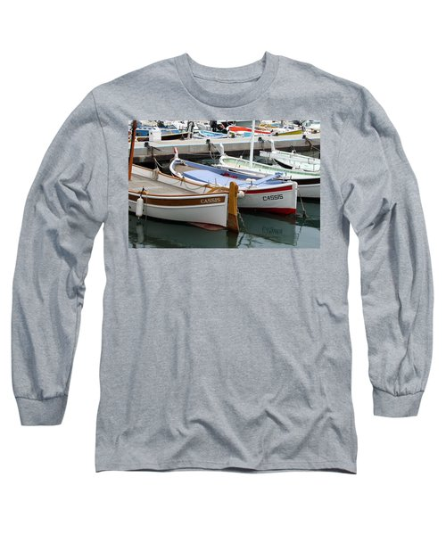 Cassis Harbor Long Sleeve T-Shirt by Carla Parris