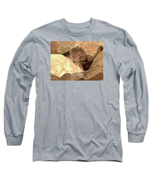 Cat On The Rocks Long Sleeve T-Shirt