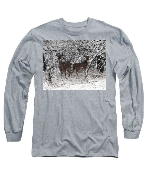 Long Sleeve T-Shirt featuring the photograph Caught In The Snow Storm by Elizabeth Winter