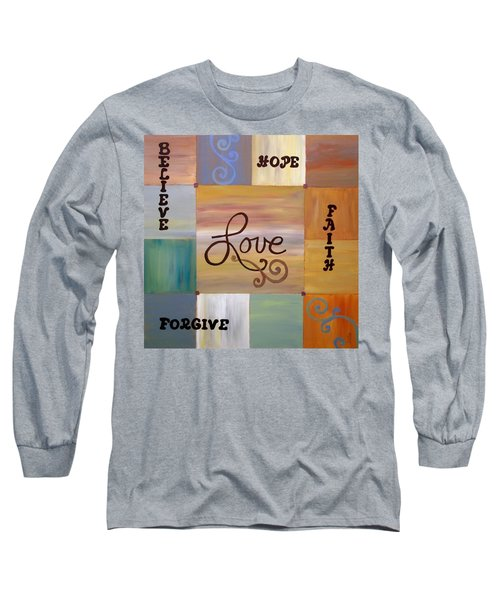 Long Sleeve T-Shirt featuring the painting Center Love by Cynthia Amaral