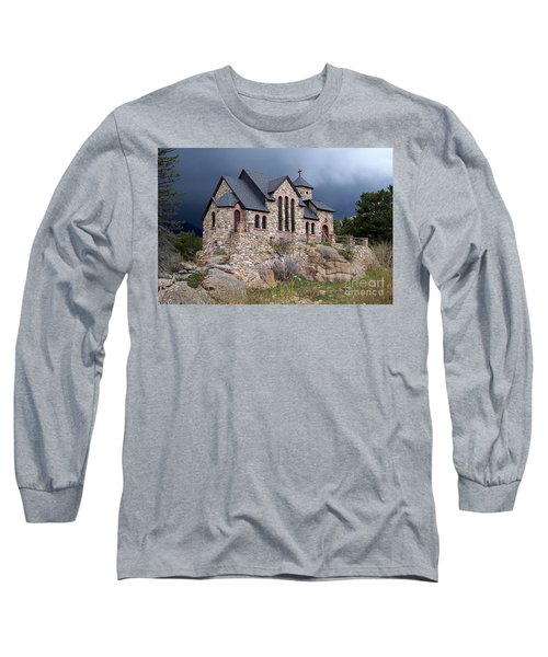 Chapel On The Rocks No. 1 Long Sleeve T-Shirt by Dorrene BrownButterfield
