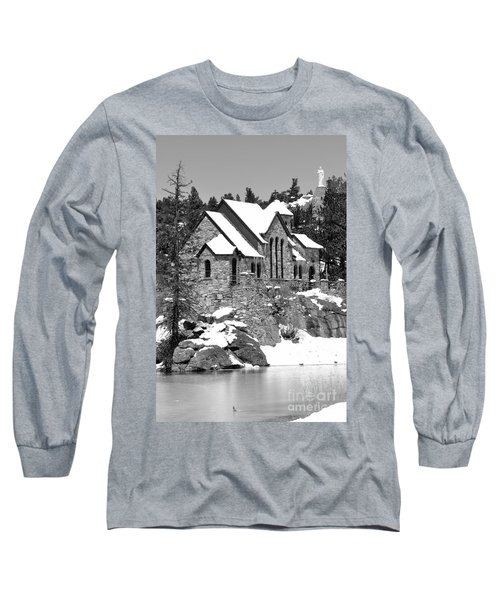 Chapel On The Rocks No. 2 Long Sleeve T-Shirt by Dorrene BrownButterfield