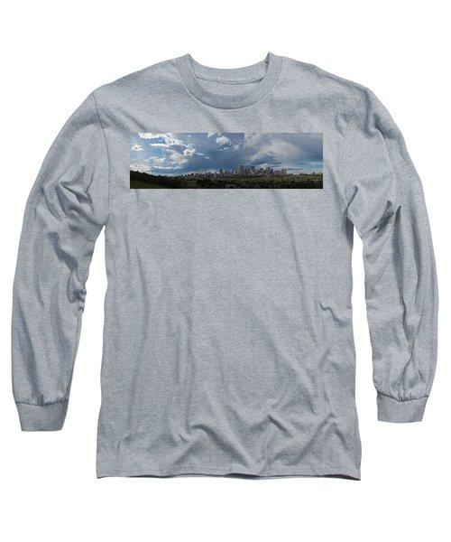 Cloudy Panorama Edmonton Long Sleeve T-Shirt