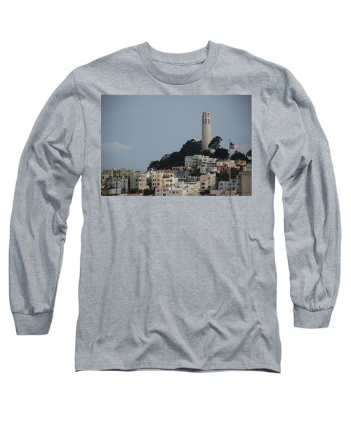 Long Sleeve T-Shirt featuring the photograph Coit Tower by Eric Tressler