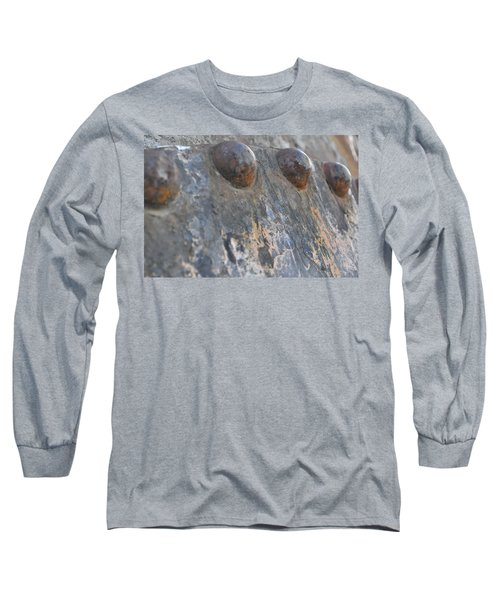 Long Sleeve T-Shirt featuring the photograph Color Of Steel 7 by Fran Riley