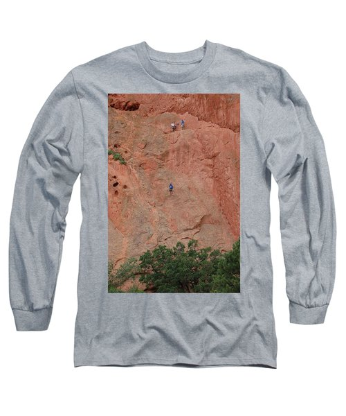 Coming Down The Mountain Long Sleeve T-Shirt by Randy J Heath