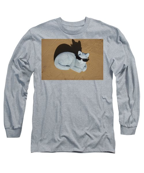 Long Sleeve T-Shirt featuring the photograph Cool Cat by Aimee L Maher Photography and Art Visit ALMGallerydotcom