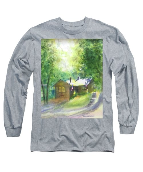 Cool Colorado Cabin Long Sleeve T-Shirt by Debbie Lewis