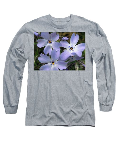 Creeping Phlox Long Sleeve T-Shirt by J McCombie